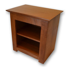 Stealth Furniture, Inc. - Secret Compartment Nightstand -Type 1, Unfinished Oak, Magnetic Lock - Unfinished red oak (ready to paint or stain) with a magnetic lock and key.