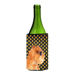 Caroline's Treasures - Brussels Griffon Halloween Portrait Wine Bottle Koozie Hugger SS4287LITERK - Brussels Griffon Candy Corn Halloween Portrait Wine Bottle Koozie Hugger SS4287LITERK Fits 750 ml. wine or other beverage bottles. Fits 24 oz. cans or pint bottles. Great collapsible koozie for large cans of beer, Energy Drinks or large Iced Tea beverages. Great to keep track of your beverage and add a bit of flair to a gathering. Wash the hugger in your washing machine. Design will not come off.