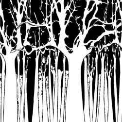 Murals Your Way - Trees - Black & White 2 Wall Art - Painted by Estela Lugo, the Trees - Black & White 2 wall mural from Murals Your Way will add a distinctive touch to any room