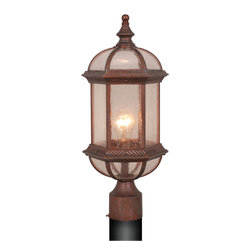 Vaxcel - Chateau Royal Bronze Outdoor Post Light - Vaxcel OP39785RBZ Chateau Royal Bronze Outdoor Post Light