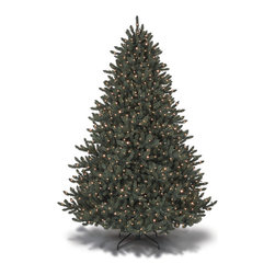 "Balsam Hill - 6.5' Balsam Hill® Blue Spruce Pre-Lit Artificial Christmas Tree - One of our bestselling artificial Christmas trees, the 6.5 foot Blue Spruce reflects a range of hues from a cool blue to vibrant silvery tones. This pre-lit easy setup tree will sparkle and dazzle with its Clear warm glow lights. Setting up those lights will be a cinch with our Easy Plug� design, which eliminates tangled light strings and automatically connects them through the trunk of the tree. Also included with this tree is a scratch-proof tree stand, soft cotton gloves for shaping the tree, storage bag, extra bulbs and fuses, and an on/off foot pedal for lights. As the best artificial Christmas tree manufacturer that is the #1 choice for set designers for TV shows such as ""Ellen"" and ""The Today Show"", in addition to being a recipient of the Good Housekeeping Seal of Approval, our trees are backed by either a 10-year or 5-year foliage warranty (depends on the size of the tree) and a 3-year light warranty. Free shipping when you buy today!"