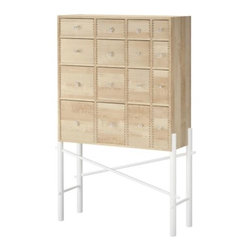 IKEA PS SINKA Cabinet with drawers - Cabinet with drawers, birch, white