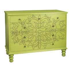 Sterling Lighting - Bradley Medallion Accent Chest - Nine drawers. Made from MDF and metal. 47 in. W x 22 in. D x 36 in. H