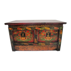 Pre-owned 1920s Small Tibetan Chest - A 1920s small Tibetan chest, perfect to use for drinks ...