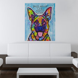 My Wonderful Walls - Dogs Never Lie German Shepherd Wall Sticker - Decal, Medium - Dogs Never Lie German Shepherd graphic by Dean Russo