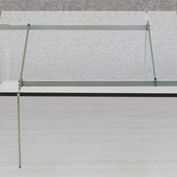Fine Mod Imports - Glass Coffee Table in Clear Finish - Modern design base. Warranty: One year. Assembly required. 32 in. W x 32 in. D x 13 in. H (80 lbs.)Great for home use. Keep the perfect appearance in your living room or any other room of choice