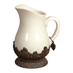 GG Collection - The GG Collection Ceramic & Metal Pitcher - The GG Collection Ceramic & Metal Pitcher