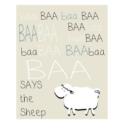 Oh How Cute Kids by Serena Bowman - Sheep Silhouette - Creme, Ready To Hang Canvas Kid's Wall Decor, 8 X 10 - Every kid is unique and special in their own way so why shouldn't their wall decor be so as well! With our extensive selection of canvas wall art for kids, from princesses to spaceships and cowboys to travel girls, we'll help you find that perfect piece for your special one.  Or fill the entire room with our imaginative art, every canvas is part of a coordinating series, an easy way to provide a complete and unified look for any room.