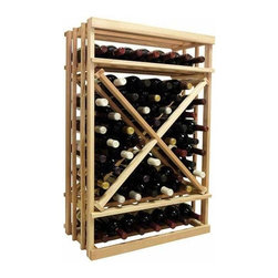 Wine Cellar Innovations - 1-Column Open Diamond Cube Wine Rack (Rustic Pine - Light Stain) - Choose Wood Type and Stain: Rustic Pine - Light Stain. Bottle capacity: 61. One column wine rack. Versatile wine racking. Custom and organized look. Can accommodate just about any ceiling height. Wine rack: 23.19 in. W x 13.5 in. D x 35.94 in. H (17 lbs.). Optional base platform: 23.19 in. W x 13.38 in. D x 3.81 in. H (5 lbs.). Vintner collection. Made in USA. Warranty. Assembly Instructions. Rack should be attached to a wall to prevent wobble