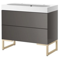 contemporary bathroom vanities and sink consoles by IKEA
