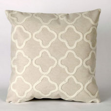 Contemporary Decorative Pillows Liora Manne Crochet Tile White Pillow