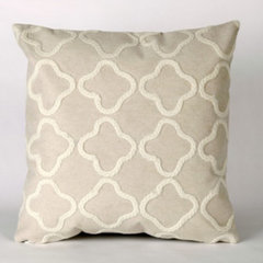 contemporary pillows Liora Manne Crochet Tile White Pillow