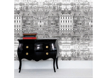 Eclectic Wallpaper by Amy Nicholas Interior Design