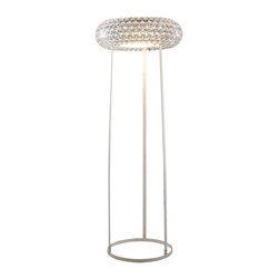 Modway Furniture - Modway Halo Floor Lamp in Clear - Floor Lamp in Clear belongs to Halo Collection by Modway The circle of revolution displayed by the Halo Series introduces spontaneous brilliance that reflects powerfully throughout any room. Adorning its bearer, the circle of revolution displayed by the Halo Series introduces spontaneous brilliance that reflects powerfully throughout any room. Adorning its bearer, the glass globe is a crown of experiential motion. Glass globe is a crown of experiential motion. Set Includes: One - Halo Acrylic Crystal Floor Lamp Floor Lamp (1)