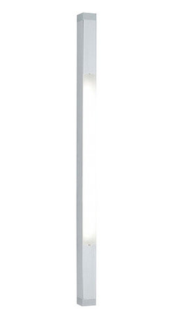 """Artemide - Artemide Two square strip wall sconce - The Two square strip wall sconce from Artemide has been designed by Ron Rezek. This wall mounted luminaire is great for direct diffused linear fluorescent lighting, particularly suited for bathroom mirror applications.. The Two square strip is composed of extruded aluminum with the option of a white powder coated finish or anodized aluminum finish. The diffuser is constructed of matte white acrylic with die-cast end caps available in aluminum or white powder coated finish.This wall sconce exhibits an innovative and elegant design, along with quality craftsmanship, that is sure to beautifully brighten any contemporary domain.  Product Details:  The Two square Strip wall sconce from Artemide has been designed by Ron Rezek. This wall mounted luminaire is great for direct diffused linear fluorescent lighting, particularly suited for bathroom mirror applications.. The Two square Strip is composed of extruded aluminum with the option of a white powder coated finish or anodized aluminum finish. The diffuser is constructed of matte white acrylic with die-cast end caps available in aluminum or white powder coated finish.This wall sconce exhibits an innovative and elegant design, along with quality craftsmanship, that is sure to beautifully brighten any contemporary domain. Details:                         Manufacturer:             Artemide                            Designer:                        Ron Rezek                                         Made in:            Italy                            Dimensions:                         Small: Height: 38"""" (96.5cm) X Width: 4.5"""" (11cm)                          Medium: Height: 50"""" (127cm) X Width: 4.5"""" (11cm)                          Large: Height: 62"""" (157.5cm) X Width: 4.5"""" (11cm)                                                                                                                   Light bulb:                         Small:1 X 14W fluorescent or 1 X 24W fluorescent """