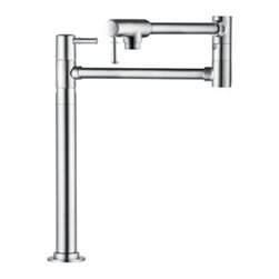 Hansgrohe - Hansgrohe - Talis C Pot Filler Deck Mounted - 04219000 - Chrome - In homes today, theres a place undergoing a radical transformation of uncompromising style-- the kitchen. This is the second most occupied place in modern dwellings. Hangrohes Pot Filler offers remarkable functionality with individual personality and style. Innovative features such as two smooth ceramic shut-off valves and twenty-three and half inch extending arm. The modern design of the pot filler  coordinates flawlessly with any kitchen decor.