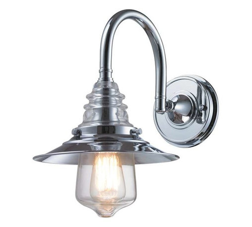 Elk Lighting - Elk Lighting 66802-1 Insulator Glass Traditional Wall Sconce in Polished Chrome - Elk Lighting 66802-1 Insulator Glass Traditional Wall Sconce in Polished Chrome