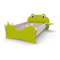 Green Frog Bed - Sleep in this cute frog bed and you'll wake up feelin' froggy, not groggy.