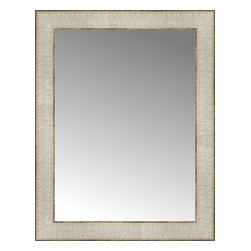 """Posters 2 Prints, LLC - 15"""" x 19"""" Libretto Antique Silver Custom Framed Mirror - 15"""" x 19"""" Custom Framed Mirror made by Posters 2 Prints. Standard glass with unrivaled selection of crafted mirror frames.  Protected with category II safety backing to keep glass fragments together should the mirror be accidentally broken.  Safe arrival guaranteed.  Made in the United States of America"""
