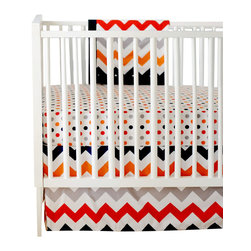 New Arrivals Inc. - Chevron Zig Zag Baby Rugby Crib Bedding Set 2-Piece by New Arrivals Inc. - The Chevron Zig Zag Baby Rugby Crib Bedding Set by New Arrivals Inc, along with the Zig Zag Rugby bedding accessories.