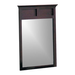 Yuan Tai - Montgomery Rectangular Vertical Mirror - Rectangular shaped. Warranty: Six months limited. Made from solid and wood veneers. Espresso finish. Assembly required. 35 in. W x 46 in. H (26.4 lbs.)