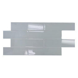 """GL STONE - Super White Glossy Subway Glass Tile 4""""x16"""",( 1 Carton / 10 Sheets/ 4.45 Sq Ft ) - The super white subway shaped glass mosaic tile Its stunning design and popular pattern will bring warmth and a classic ambiance to your interior decor. The mesh backing not only simplifies installation, it also allows the tiles to be separated which adds to their design flexibility. Each sheet measures 4.0"""" x 16.0"""". This glass wall tiles are perfect for any interior or exterior projects such as kitchen backsplash, bathroom wall, shower surround, dining room, entryway, etc."""