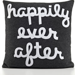"Happily Ever After Pillow - Wish the happy couple a fairy tale ending with this ""happily ever after"" pillow."