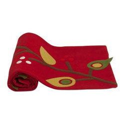 Birds and Berries Felt Runner by Tag - Set the table for Christmas dinner with this felt table runner. It has a modern feel with plenty of charm included.
