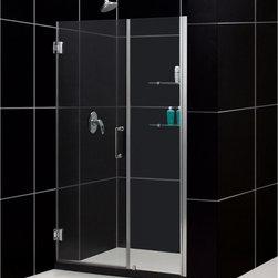 """DreamLine - DreamLine SHDR-20537210S-01 Unidoor Shower Door - DreamLine Unidoor 53 to 54"""" Frameless Hinged Shower Door, Clear 3/8"""" Glass Door, Chrome Finish"""