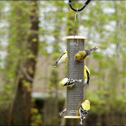 Fifthroom - Stainless Steel Tube Bird Feeder - Our Stainless Steel bird feeder is sure to draw a crowd of colorful song birds for years to come.  The strong stainless steel tube will deter squirrels, but leave plenty of room for your feathered friends to find a fine feast.