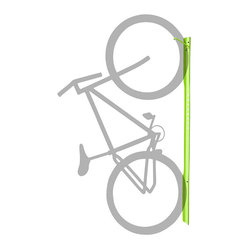 Turnstone - Bivi Bike Hook - The wall-mountable Bivi Bike Hook is also designed to work as part of the Bivi office system from Turnstone. Every office needs bike storage, and the Bivi Bike Hook gives you a vertical bike storage solution. Made from steel.