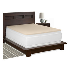 Select Luxury - Select Luxury Restore-a-Mattress 3-inch Memory Foam Mattress Topper - Forgo expensive mattress replacements by extending the life of your current bed with this affordable memory foam mattress topper. Two dense layers of foam,totalling three inches in thickness,mold to your body,ensuring a comfortable night's sleep.