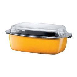 Silit - Passion Colors Gourmet Roasting Pan, Crazy Yellow - -Extra-sturdy, drawn-in-one-piece steel core.
