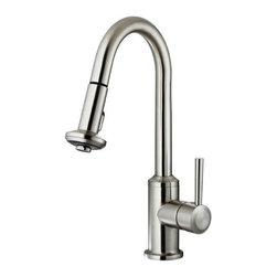 Vigo Industries - Stainless Pull-Down Spray Kitchen Faucet - Complement any kitchen decor with this exquisite pull-down sprayer faucet.