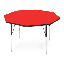 Other Brands - Correll Octagon Shaped Activity Table - A48-OCT-01 - Shop for Childrens Tables from Hayneedle.com! What We Like About This Activity TableThe Correll Octagonal Activity Table features an eight-sided table top with a high-pressure laminate to resist scratches paint markers crayons and other stains as well as a backer sheet to resist warping. Leg mounting brackets are pre-attached with seven screws to create one of the strongest leg mounting systems in the industry. Includes a SpeedWrench for quick and easy height adjustment. Choose from a variety of popular color options.