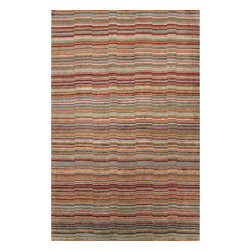Jaipur Rugs - Jaipur Rugs Hand-Knotted Soft Hand Wool/Art Silk Red/Blue Area Rug, 2 x 3ft - A study in style and form, the J2 Collection lays the artful groundwork to build your own beautiful living space. Composed of graceful motifs and rich hues that dance the line between modern and transitional, each unique piece shares a timeless appeal. The casual elegance of 80-line Tibetan hand-knotted wool construction lends a depth of color and a plush quality that can be felt with every step taken. Carving and art silk accents add an additional level of visual interest. Take on a new design direction with J2.
