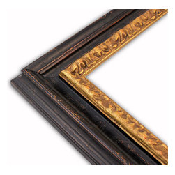 The Frame Guys - Seville Black/Gold Picture Frame-Solid Wood-10x10 - *Seville Black/Gold Picture Frame-Solid Wood-10x10