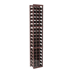 3 Column Standard Cellar Kit in Pine with Walnut Stain + Satin Finish - Each wine cellar rack meets Wine Racks America's unparalleled fabrication standards. Modular engineering provides universal kit compatibility which enables connoisseurs to mix and match wine rack kits until you achieve a personally-defined wine bottle storage system.