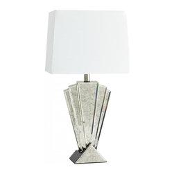 Joshua Marshal - Mirrored Glass 1 Light Deco Reflections Table Lamp - Mirrored Glass 1 Light Deco Reflections Table Lamp