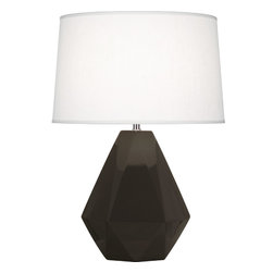 Robert Abbey - Delta Table Lamp, Coffee - Diamonds are a room's best friend with this gemstone-inspired table lamp. It's as multifaceted as you are, complimenting a variety of styles, from eclectic to modern. Whether you pick a bright pop of color or stick with a neutral, this is one diamond you'll hang onto forever.