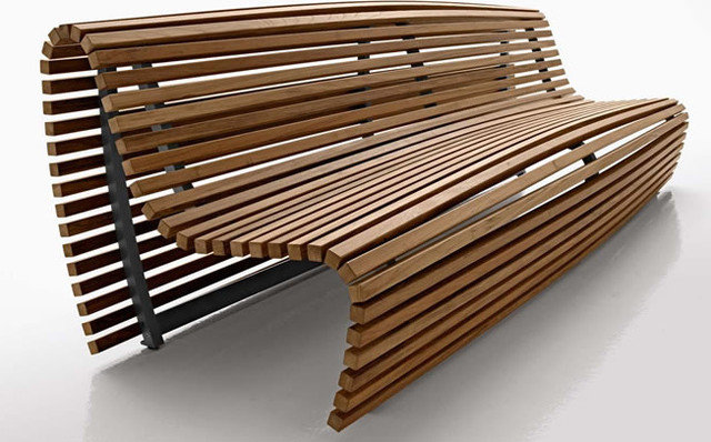 Contemporary Outdoor Benches by chaplinsstore.co.uk