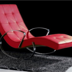 Whiteline - Christiane Indoor Rocker Chaise Lounge - RC1002P-BLK - Shop for Chaises from Hayneedle.com! If you think ultra modern furniture can't be comfortable try the Christiane Indoor Rocker Chaise Lounge. This contemporary rocking chaise lounge cradles you in comfort and high style. Its curved frame has a polished chrome finish. It's upholstered in your choice of leatherette color and detailed with button tufting. About Whiteline:With a product line that includes prime leather sofas comfortable beds and elegant dining room furniture Whiteline delivers modern and contemporary styles along with cozy comfort. Whiteline has 15 years of experience building furniture along with a worldwide network of skilled manufacturers to help them give you the best value for your money. And their huge collection of designs is sure to have something to suit your contemporary tastes.