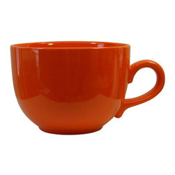 Waechtersbach - Waechtersbach Fun Factory Orange Jumbo Cups (Set of 4) - Go for color when choosing Waechtersbach Fun Factory II dinnerware. This set of orange jumbo cups is made from high-fired ceramic earthenware that is dishwasher safe.