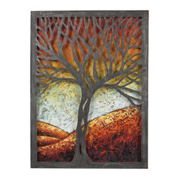 Sterling - Sterling 129-1110 Whitneyautumn Scene Metal Wall Decor - Sterling 129-1110 Whitneyautumn Scene Metal Wall Decor
