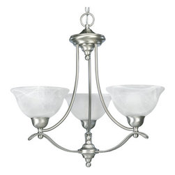 Progress Lighting - Progress Lighting P4067 Avalon Three Light Single-Tier Up Lighting Chandeliers - Features: