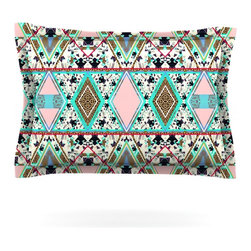 "Kess InHouse - Vasare Nar ""Deco Hippie"" Pillow Sham (Woven, 40"" x 20"") - Pairing your already chic duvet cover with playful pillow shams is the perfect way to tie your bedroom together. There are endless possibilities to feed your artistic palette with these imaginative pillow shams. It will looks so elegant you won't want ruin the masterpiece you have created when you go to bed. Not only are these pillow shams nice to look at they are also made from a high quality cotton blend. They are so soft that they will elevate your sleep up to level that is beyond Cloud 9. We always print our goods with the highest quality printing process in order to maintain the integrity of the art that you are adeptly displaying. This means that you won't have to worry about your art fading or your sham loosing it's freshness."