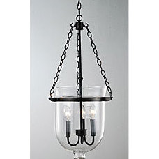 Antique Copper Finish Glass Lantern Chandelier