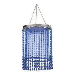 Anywhere Shimmer Chandelier Raindrop, Blue