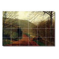 Picture-Tiles, LLC - Forge Valley Scarborough Tile Mural By John Grimshaw - * MURAL SIZE: 32x48 inch tile mural using (24) 8x8 ceramic tiles-satin finish.