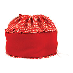 Camerons Products - Bun Warmer Basket - Red - Keeps breads and rolls hot and moist for up to one hourl! Place rolls directly into warmer after being in the oven or heat in the microwave.